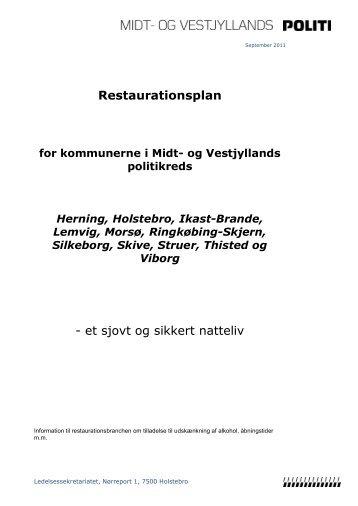 Restaurationsplan - et sjovt og sikkert natteliv