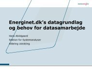Energinet.dk's datagrundlag og behov for datasamarbejde