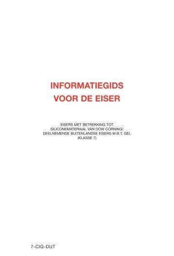 informatiegids voor de eiser - Settlement Facility for Dow Corning Trust