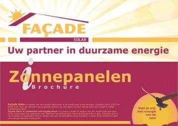 Zonnepanelen Brochure - Facade Solar