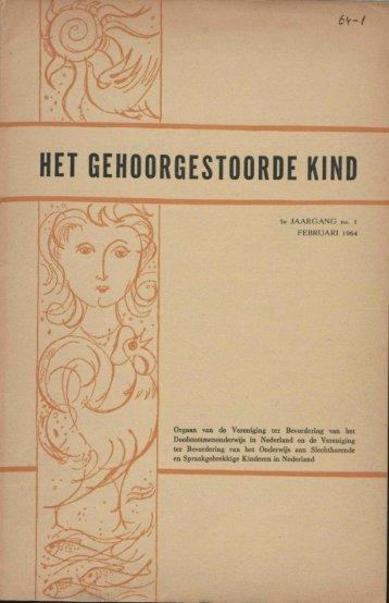 HET GEHOORGESTOORDE KIND - Fenac