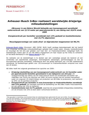 Brussels, XX March 2010 – Page 1/ - Anheuser-Busch InBev