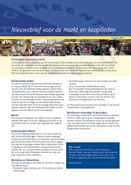 Nieuwsbrief voor de markt en kooplieden - markt in Hengelo