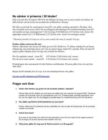 Nya EU roamingpriser (pdf) - Parlino