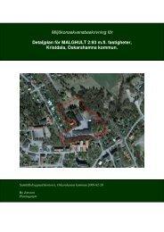 Miljökonsekvensbeskrivning för Detaljplan för ... - Oskarshamn