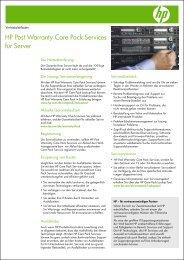 HP Post Warranty Care Pack Services für Server - b.com