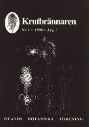 Krutbrännaren 1998-1 - Ölands Botaniska Förening