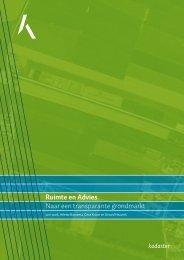 Ruimte en Advies Naar een transparante grondmarkt - Nirov