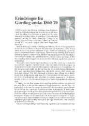 Jens Pedersen: Erindringer fra Gørding omkr. 1860