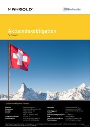 aktieindexobligation schweiz - Mangold Fondkommission