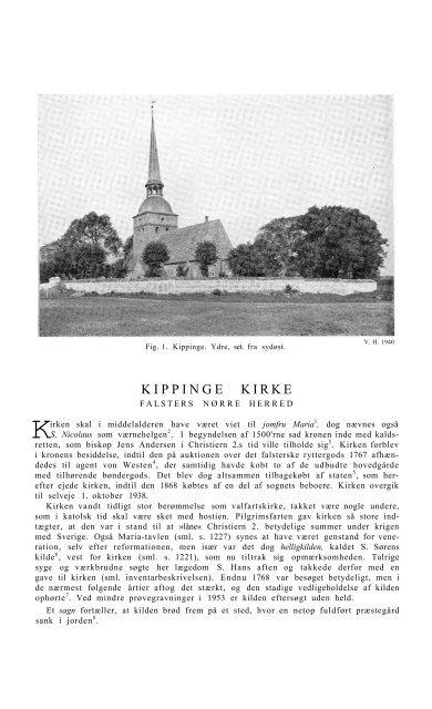 KIPPINGE KIRKE - Nationalmuseet