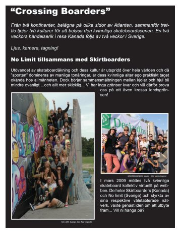 """""""Crossing Boarders"""" - Skirtboarders"""