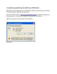 Installationsvejledning for ADP Cisco VPN Klient