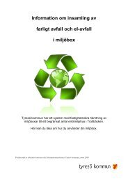 Information om insamling av farligt avfall och el ... - Tyresö kommun