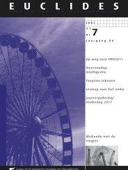 86-7 - Nederlandse Vereniging van Wiskundeleraren