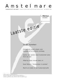 Amstelmare april 2005 - Humanistisch Verbond