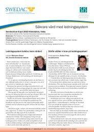 Säkrare vård med ledningssystem - Tillsynsforum.se