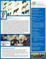 Samenwerking met PTC+ - Hogeschool Van Hall Larenstein.