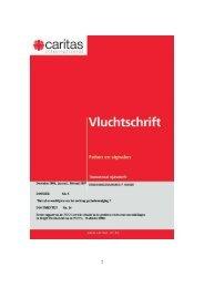 Vluchtschrift december 2006 - februari 2007 - Caritas International