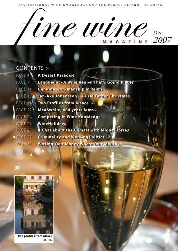 Dec CONTENTS > - Fine wine magazine
