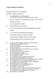 1 Tussen nihilisme en ietsisme Zondag 20 februari ... - Thomaskerk