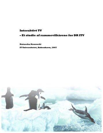 Interaktivt TV – Et studie af rammevilkårene for DR ITV
