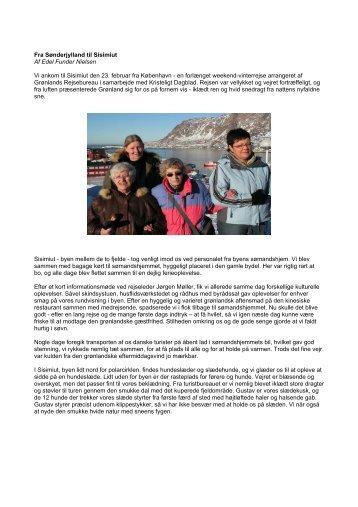 Fra Sønderjylland til Sisimiut - Grønlands Rejsebureau