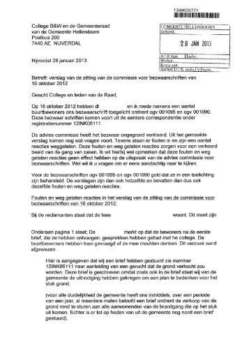 JAN 2013 - Raads - gemeente Hellendoorn