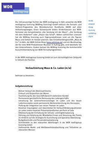 Stellenanzeige als PDF herunterladen - Buchreport