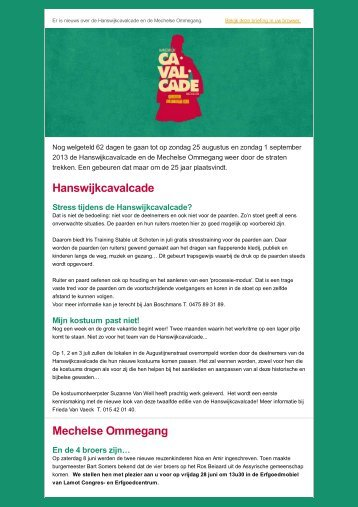 Download PDF - Cavalcade - Mechelen