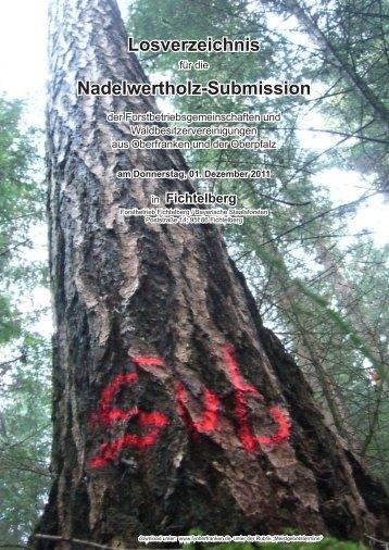 Nadelwertholzsubmission in Fichtelberg - Bayerische Staatsforsten