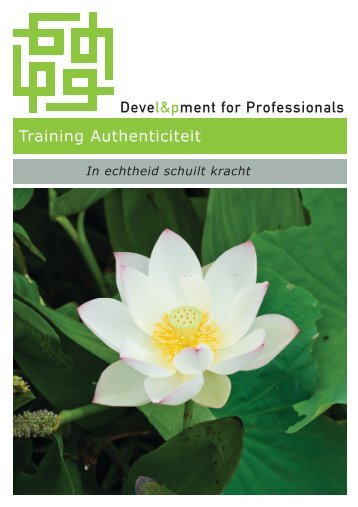 Training Authenticiteit - Development for Professionals