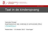 Taal in de kinderopvang - Stichting Lezen & Schrijven