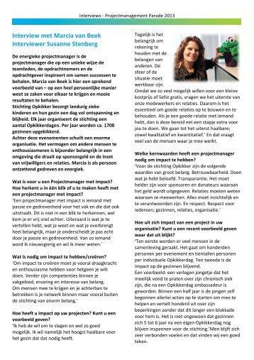 Marcia van Beek - Projectmanagement Parade