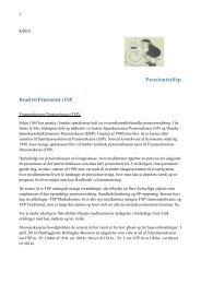 Hvad vil Pensionistifsp - Frode Sørensens hjemmeside
