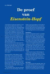 De proef van Eisenstein-Hopf - Pythagoras