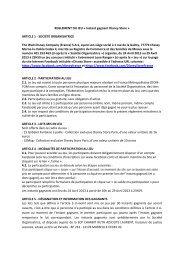 REGLEMENT DU JEU « Instant gagnant Disney Store » ARTICLE 1 ...