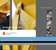 Sociaal jaarverslag 2010 - Bouwbedrijven Jongen