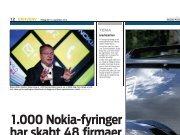 1.000 Nokia-fyringer har skabt 48 firmaer - Iværk&Vækst