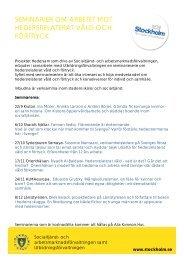 seminarier om arbetet mot hedersrelaterat våld och förtryck