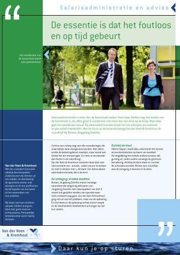 Leaflet Salarisadministratie en advies - Van der Veen & Kromhout