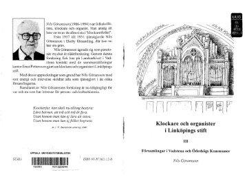 Klockare och organister i Linköpings stift - Ödeshögs hembygdsbok