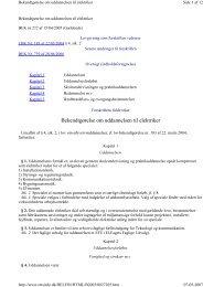 Bekendtgørelse om uddannelsen til elektriker - EVU