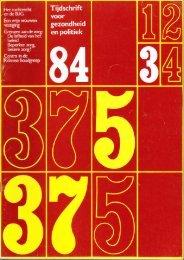 Tijdschrift Gezondheid en Politiek jaargang 1984 nr 3