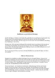 Buddhismens syn på befrielsen/frälsningen - BuddhismInfo.se