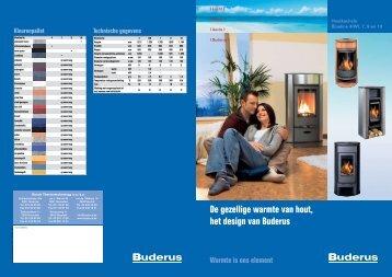 De gezellige warmte van hout, het design van Buderus