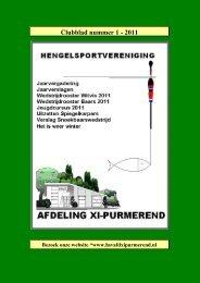 Clubblad nummer 1 - 2011 - HSV - Afd XI Purmerend