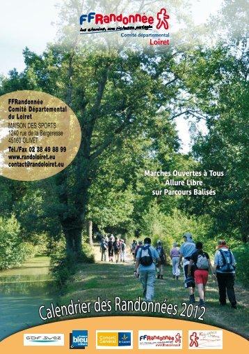 Calendrier des Randonnées 2012 - Orléans City