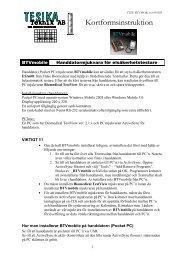 BTVmobile kortform - Tesika Teknik AB