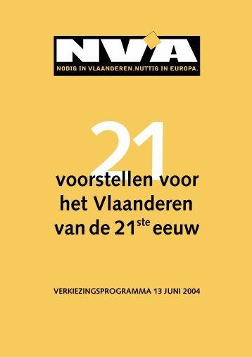 Verkiezingsprogramma Vlaamse verkiezingen (juni 2004).pdf - N-VA
